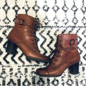 Clarks Leather Lace Boots